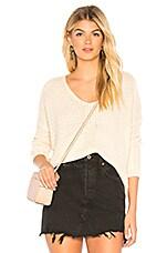 MAJORELLE V-Neck Sweater in Off White