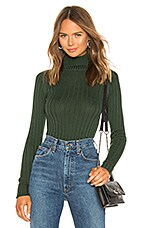 MAJORELLE Macy Sweater in Dark Green