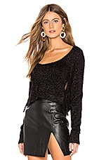 MAJORELLE Onyx Glitter Sweater in Black Rainbow