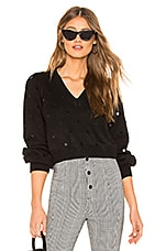 MAJORELLE Sequin Sweater in Black