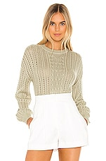 MAJORELLE Putnam Sweater in Pale Green