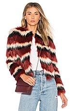 MAJORELLE Luka Faux Fur Coat in Sequoia