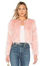 MAJORELLE Heather Coat in Candy Pink