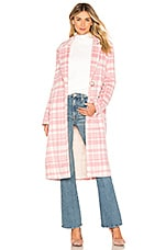 MAJORELLE Madonna Coat in Pink Cloud