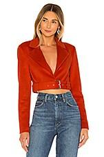 MAJORELLE Judy Jacket in Red Orange