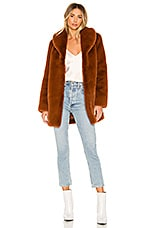MAJORELLE Tatiana Coat in Chestnut Brown