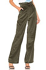 MAJORELLE Benedict Pant in Olive Green