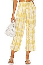 MAJORELLE Theo Pants in Yellow Tie Dye
