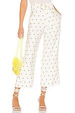 MAJORELLE Sloane Pant in White & Yellow