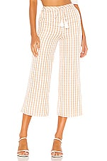 MAJORELLE Theo Pant in Gold Check
