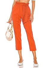MAJORELLE Tristan Pant in Rust Orange