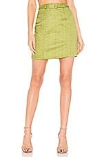 MAJORELLE Suri Mini Skirt in Pear Green