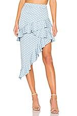 MAJORELLE Sugar Rush Skirt in Baby Blue Dot