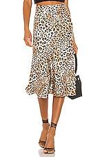MAJORELLE Kara Skirt in Leopard