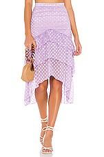 MAJORELLE Heidi Skirt in Amethyst Purple