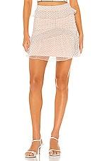 MAJORELLE Xavier Mini Skirt in Black Dot