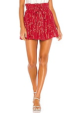 MAJORELLE Charlie Mini Skirt in Red