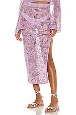 MAJORELLE Graham Midi Skirt in Purple