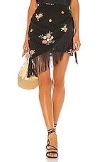 MAJORELLE Hallie Mini Skirt in Black Dot
