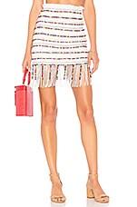 MAJORELLE Hannah Mae Skirt in White Multi