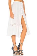 MAJORELLE Gypsum Midi Skirt in White