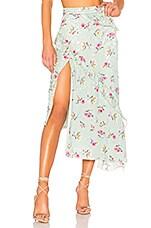 MAJORELLE Tallulah Skirt in Green Whisper