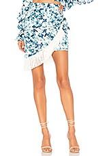 MAJORELLE Hallie Mini Skirt in White Riviera