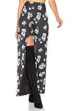Payton Skirt in Black & White Floral