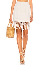 MAJORELLE Agnes Mini Skirt in White