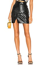 MAJORELLE Hyperion Mini Skirt in Black