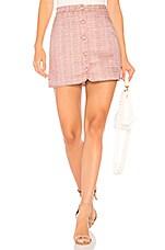 MAJORELLE Ariah Mini Skirt in Magenta Sparkle