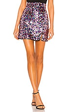 MAJORELLE Palma Mini Skirt in Pink Rainbow
