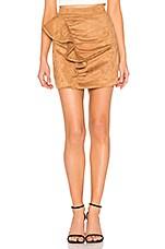 MAJORELLE Samara Mini Skirt in Camel
