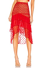 MAJORELLE Heidi Skirt in Red