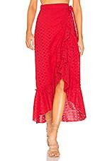 MAJORELLE Peanut Skirt in Red