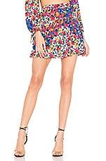 MAJORELLE Shannon Mini Skirt in Patchwork Multi