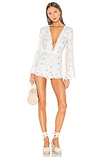 MAJORELLE Devon Romper in White Multi
