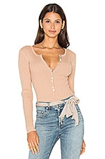 MAJORELLE Lariat Bodysuit in Blush