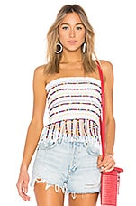 MAJORELLE Hannah Mae Top in White Multi