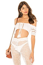 MAJORELLE Hilary Top in White
