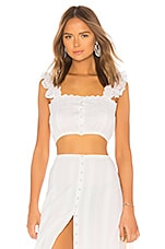 MAJORELLE Gypsum Top in White