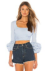 MAJORELLE Beatrice Top in Baby Blue