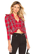 MAJORELLE Granada Top in Red Plaid