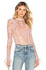 MAJORELLE Zamora Top in Blush Pink