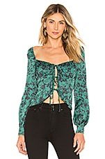 MAJORELLE Waldorf Top in Green Riviera