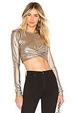 MAJORELLE Lumi Top in Metallic Bronze