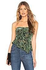 MAJORELLE Almeria Top in Emerald Green
