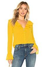 MAJORELLE Fleur Blouse in Sunshine Yellow