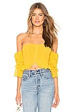 MAJORELLE Karolina Top in Sunshine Yellow