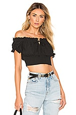 MAJORELLE Pauline Top in Black